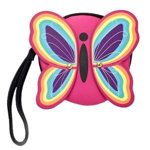 Betsey Johnson Coin Purse Wristlet Butterfly Wings